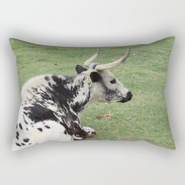 Gazing Longhorn Rectangular Pillow