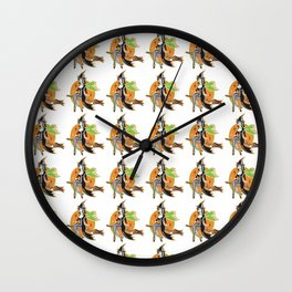 sexywitchpattern Wall Clock