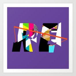 Reinterpretation (collage) Art Print