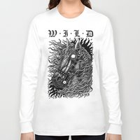 occult Long Sleeve T-shirts featuring Occult horse by Iria Alcojor