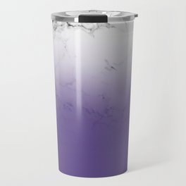 Modern white marble ultra violet purple ombre gradient Travel Mug