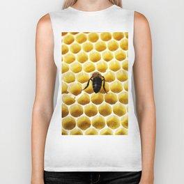 Geometric Bee Biker Tank