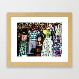 Vintage Fashion Framed Art Print
