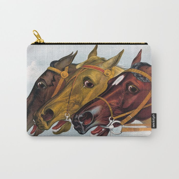 Horse head portraits Carry-All Pouch