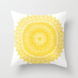 Sinful-Yellow Throw Pillow