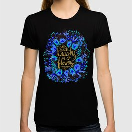 The Earth Laughs in Flowers – Gold & Blue T-shirt