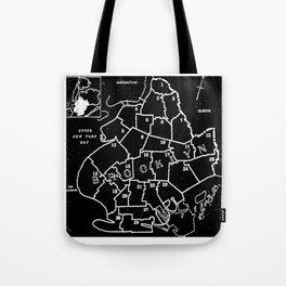 Brooklyn Vintage Map 1957 Tote Bag
