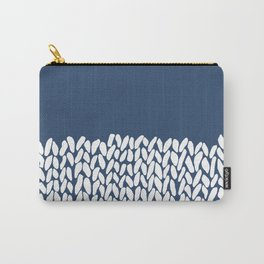 Half Knit Navy Carry-All Pouch