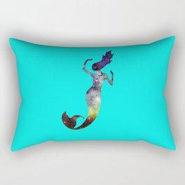 Galaxy Mermaid 2 (Turquoise) Rectangular Pillow