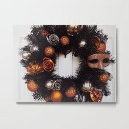Halloween Wreath Metal Print
