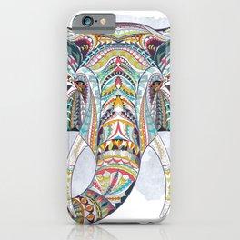 Colorful Ethnic Elephant iPhone Case