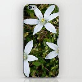 White Flowers iPhone Skin