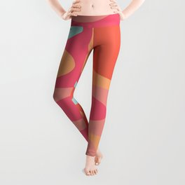 Abstract Color Blocking Leggings