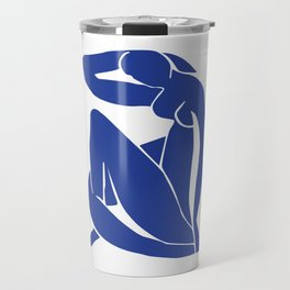 Matisse blue woman print, abstract woman print, matisse wall art, Abstract Modern Print, Travel Mug