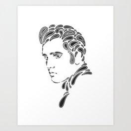 Elvis Paisley Art Print
