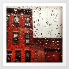 Rainy Day in Brooklyn Art Print