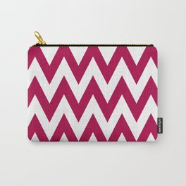 Team Spirit Chevron Red and White Carry-All Pouch