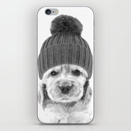 Black and White Cocker Spaniel iPhone Skin