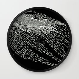 Psalm 91 - White on Black Wall Clock