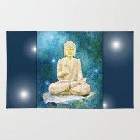 buddha Area & Throw Rugs featuring Buddha by INA Artist