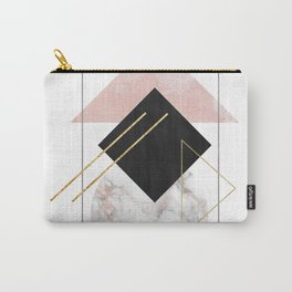 Rose Marble Triangle Art   Geometry Wall Decor   Polygonal Modern Minimalist Abstract Shapes Carry-All Pouch