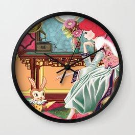 Liselle's Bunny Lover Wall Clock