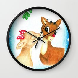 Rudolph the Red Nosed Reindeer & Clarice First Christmas Snow Wall Clock