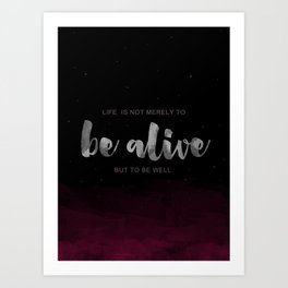 Be Well Art Print