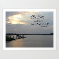 scripture Art Prints featuring Hilton Head Island, Scripture by Stephanie Stonato