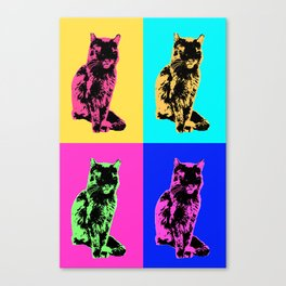 Cat Pop Canvas Print