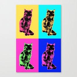 Cat Pop Canvas Print