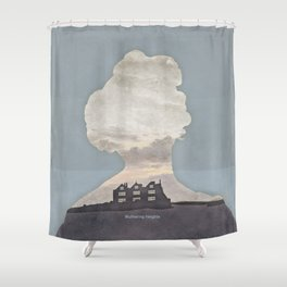 Emily Brontë Wuthering Heights - Minimalist literary design Shower Curtain