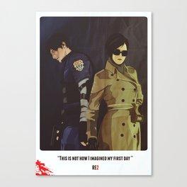Leon A - Resident Evil 2 Canvas Print