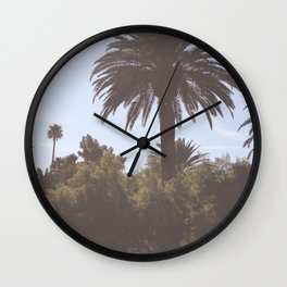 Las Vegas Palm Trees Wall Clock
