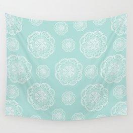Mint Romantic Flower Mandala Pattern #2 #decor #art #society6 Wall Tapestry