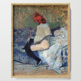 "Henri de Toulouse-Lautrec ""Red-Haired Woman on a Sofa"" Serving Tray"