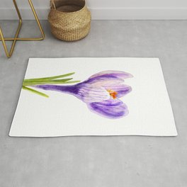 Delicate spring flower of crocus Rug