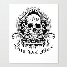 Life or Death Skull and Bones Biker Gang Canvas Print