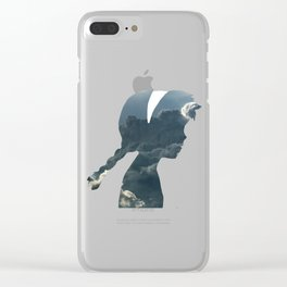 Princess of Laputa Silhouette Clear iPhone Case