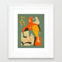 frankenstein Framed Art Prints featuring Frankenstein by Jazzberry Blue