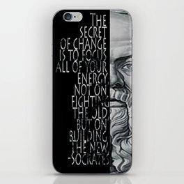 Socrates inspirational quote iPhone Skin