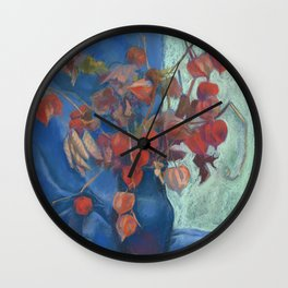 Still life with winter cherry Wall Clock