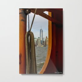 Freedom Tower through The Boat Metal Print