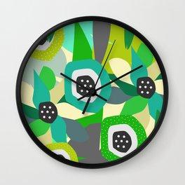 Bright tropical vibe Wall Clock