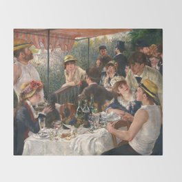 Luncheon of the Boating Party by Renoir Throw Blanket