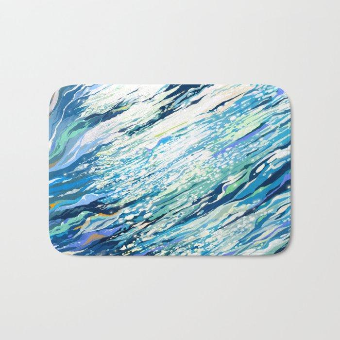 Silent Blue Bath Mat