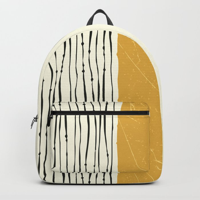 Gold Zebra Stripes Backpack