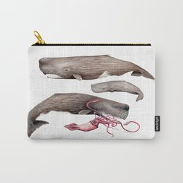 Sperm whale family Carry-All Pouch