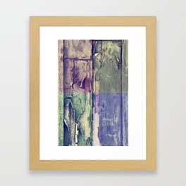 Abstract colored boards pattern Framed Art Print