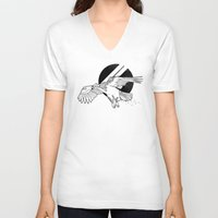 hawk V-neck T-shirts featuring Hawk by Randyotter